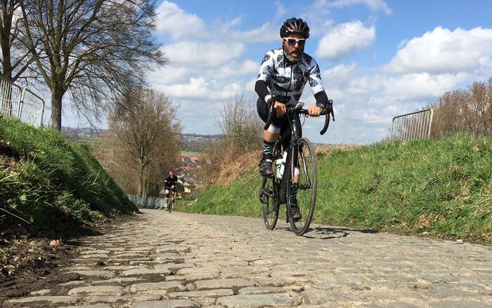spring classics rider on cobble stones