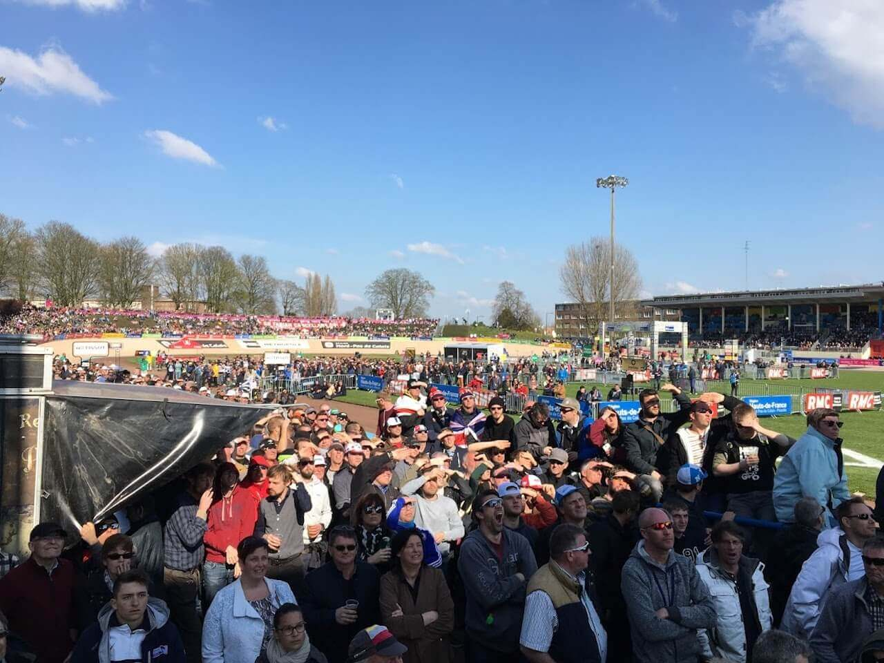 The Paris Roubaix race and the finish into the Roubaix velodrome is a once in a life time experience, it's a very unpredictable race and incredible to be a part of all the action.