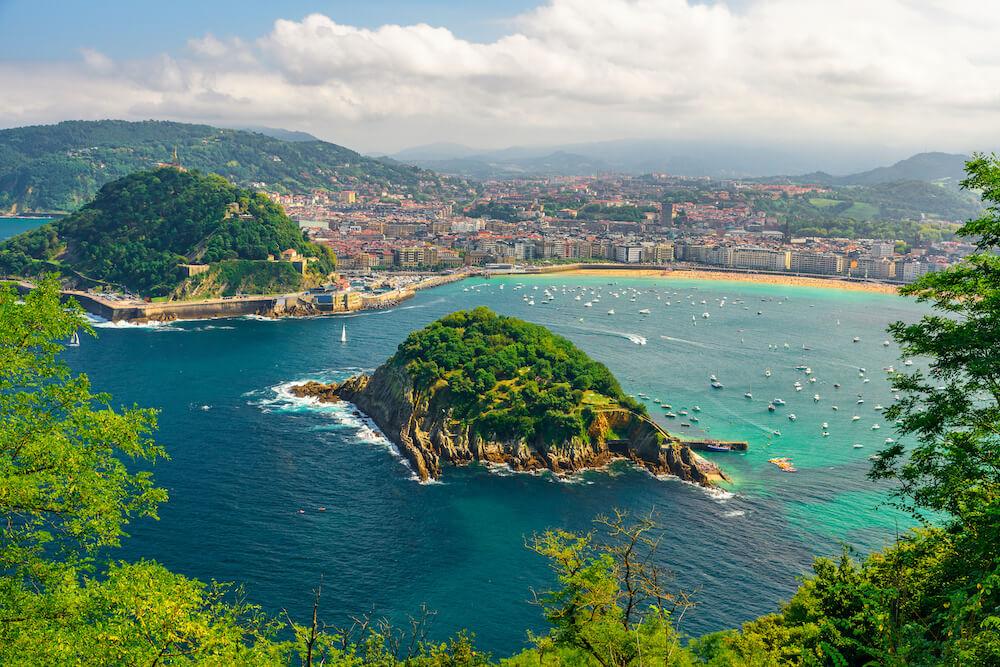 Turquoise bay of San Sebastian