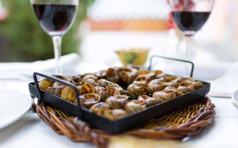 Caragols a la Llauna, a traditional spanish dish originating from Catalonia.