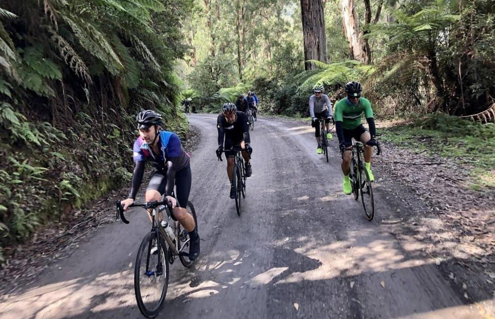 Cyclists at Acheron way.