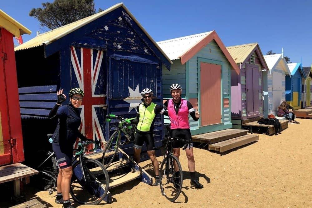 The colourful Brighton Beach bathing boxes, Melbourne.