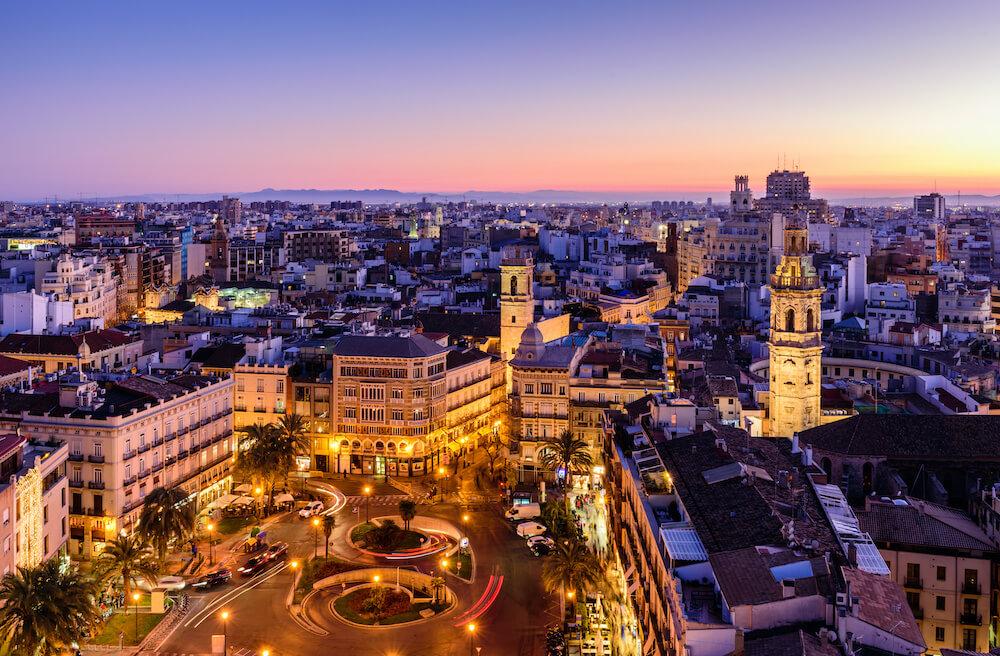 Valencia at sunset